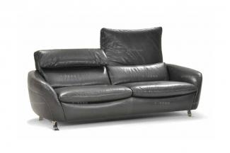 高端品牌现代意大利进口多功能真皮二人沙发