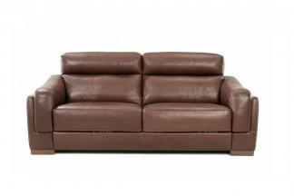 高端品牌现代意大利进口浅咖色二人沙发