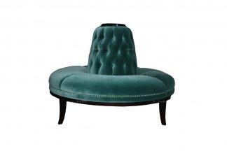 高端别墅家具奢华新古典绿色圆脚凳