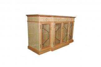 高端样板房万博手机网页奢华新古典枫影色餐边柜
