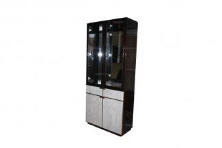 高端大气万博手机网页品牌新古典黑檀色两门酒柜