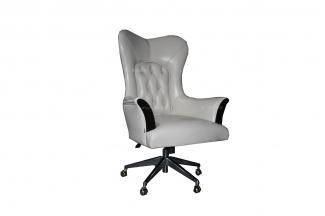 高端大气家具品牌新古典黑檀色书椅