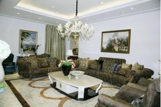 高端奢华别墅家具自然主义客厅沙发组合