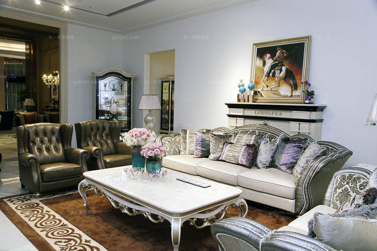 高端奢华别墅万博手机网页品牌自然主义客厅沙发系列