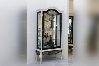 高端时尚别墅家具品牌实木自然主义酒柜