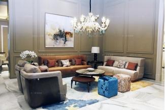 名贵奢华会所万博手机网页品牌客厅真皮沙发系列