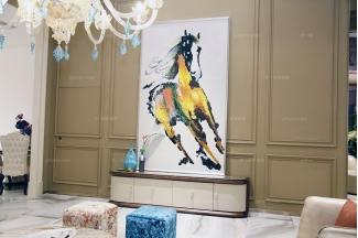 高端品牌别墅家具自然主义白色实木电视柜