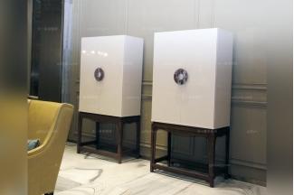 高端品牌万博手机网页奢华自然主义白色实木装饰柜