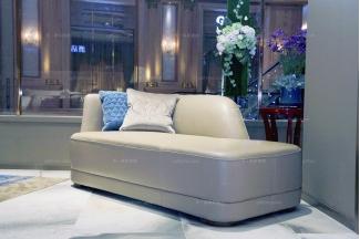 高端品牌家具奢华自然主义真皮贵妃椅