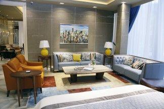 高端星级酒店万博手机网页真皮自然主义风格客厅沙发系列