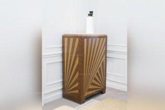 高端五星级酒店家具美式实木斜纹斗柜