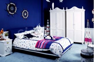 高端别墅儿童万博手机网页时尚儿软包儿童床