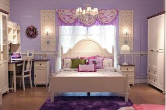 高端现代儿童家具品牌白色儿童公主床