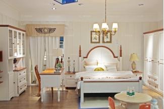 高端大气儿童品牌家具白色实木儿童卧室家具