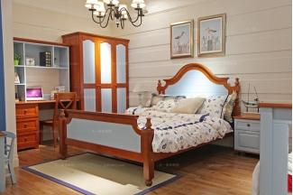高端儿童万博手机网页品牌实木儿童床组合