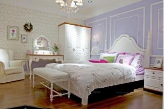 高端儿童家具品牌白色儿童公主床