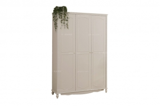 高端品牌儿童家具白色实木衣柜