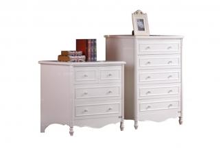 高端儿童品牌家具白色实木斗柜