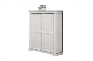 高端儿童家具品牌白色实木儿童柜