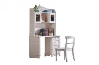 高端儿童品牌万博手机网页白色实木儿童书桌