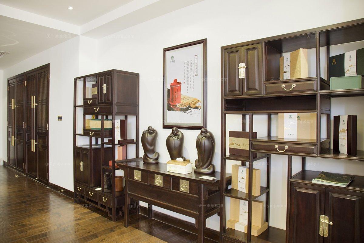 国内名贵会所家具红木品牌天一会红木书柜组合