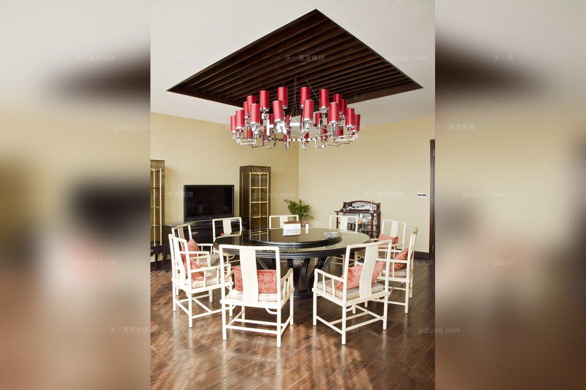 高端会所家具红木品牌天一会中式红木餐桌椅