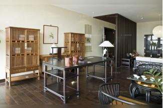 国内名贵会所家具红木品牌天一会书房家具