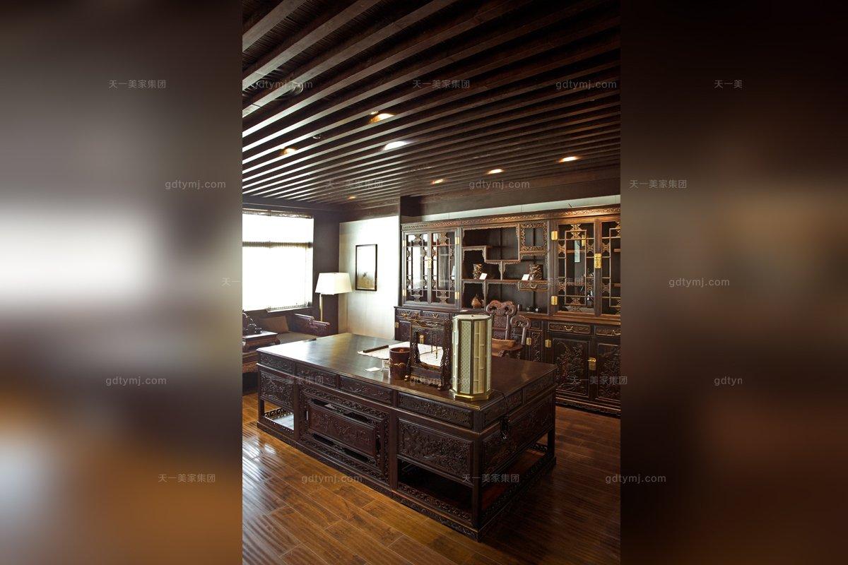 名贵高端会所家具品牌天一会红木书房家具