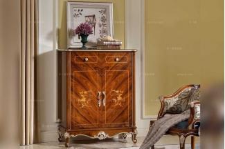 高端别墅家具品牌法式实木花纹储物柜