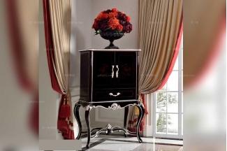 高端别墅万博手机网页品牌法式实木黑亮色装饰柜