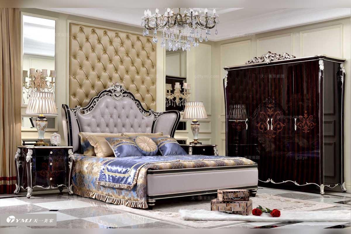 高端别墅会所品牌家具法式大床