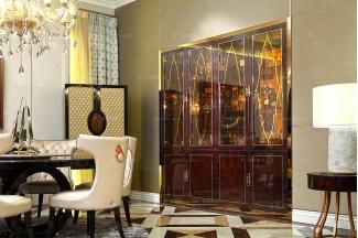 五星级酒店品牌家具高档入墙式酒柜