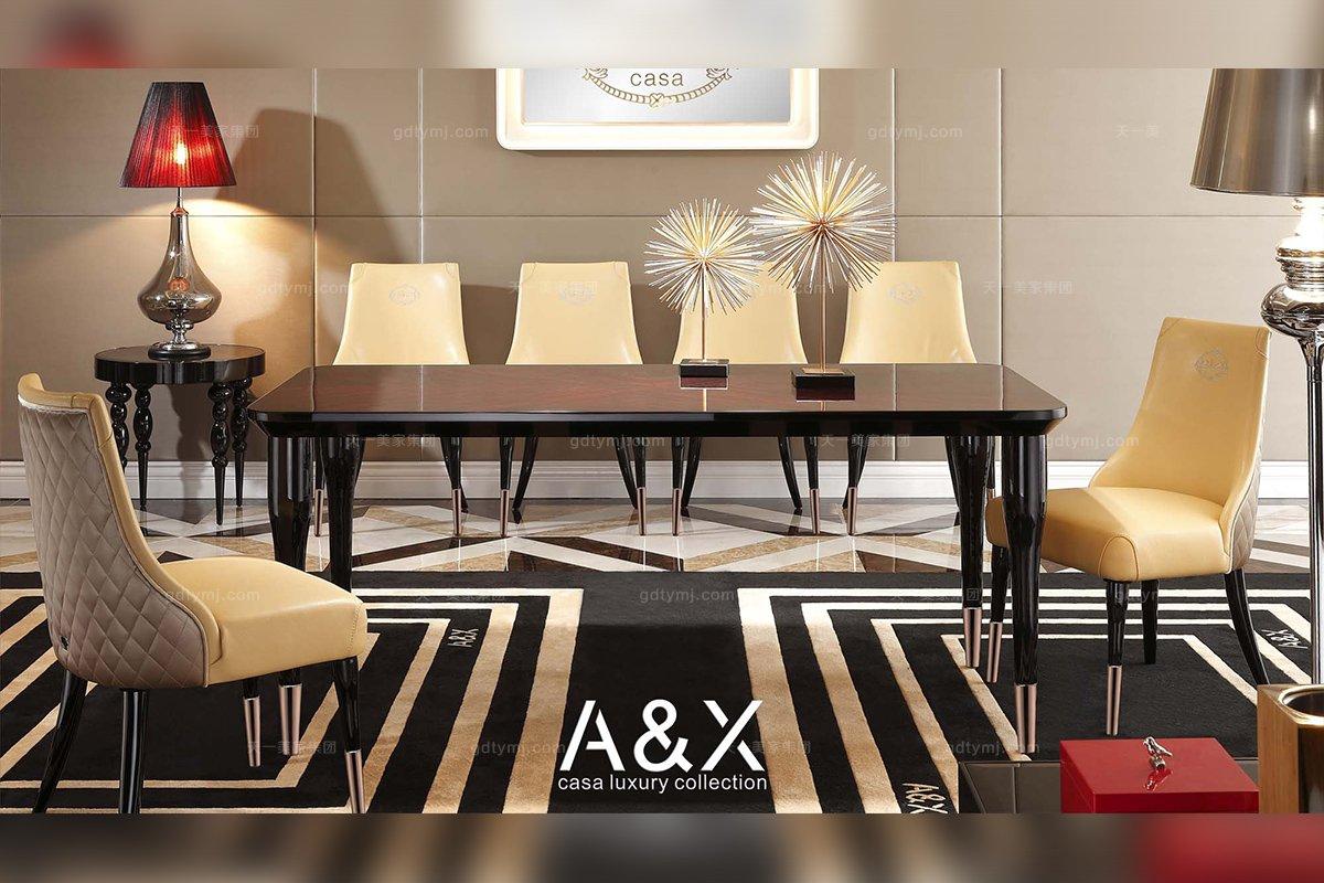 别墅五星级酒店万博手机网页品牌奢华餐桌椅系列