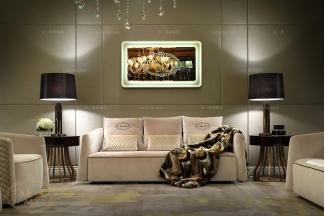 高端会所五星级酒店万博手机网页后现代布艺三位沙发
