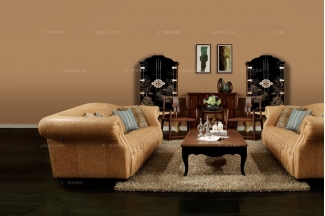 别墅五星酒店家具高端家具棕色真皮沙发