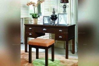 别墅实木家具美式原木色书桌