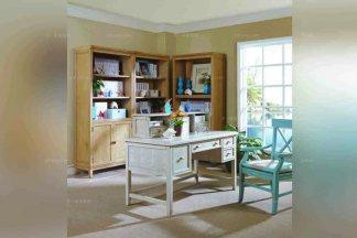 高档别墅家具美式实木书房家具