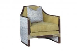 名贵别墅家具品牌法式风格咖啡色单人沙发