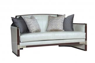 国内高端别墅家具品牌法式风格咖啡色二人位沙发