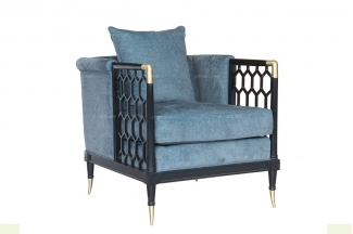 名贵别墅会所品牌家具高端法式单人位沙发