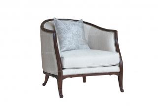 高端万博手机网页法式品牌单人位沙发