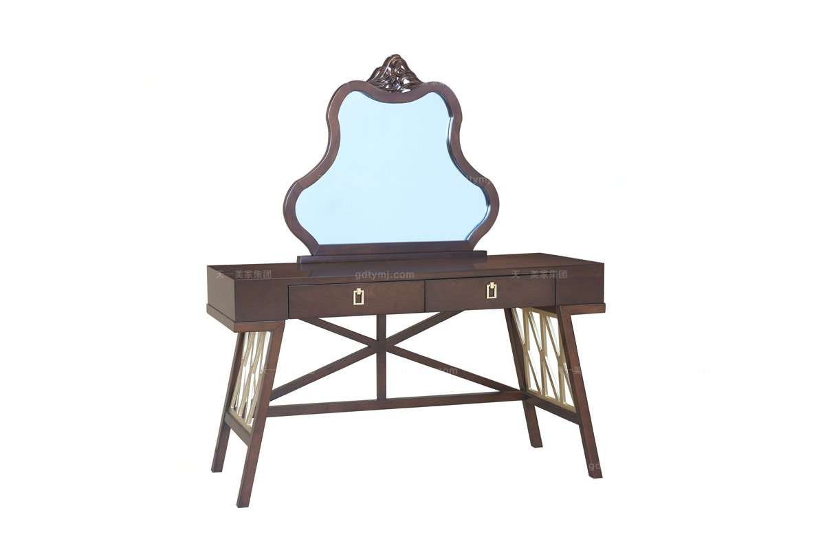 高端家具样板房家具品牌法式咖啡梳妆台