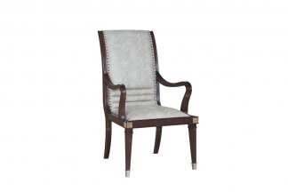 高端家具售楼部家具法式品牌咖啡色餐椅