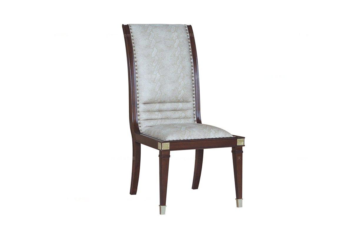 样板房万博手机网页样板间万博手机网页品牌法式咖啡色餐椅