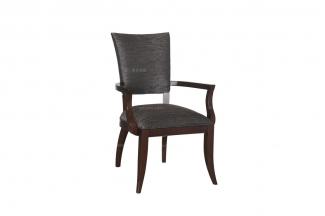 售楼处家具高端售楼部家具法式品牌咖啡色扶手餐椅