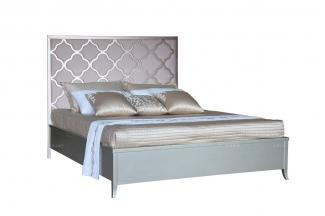 高端别墅品牌家具会所家具法式银色大床