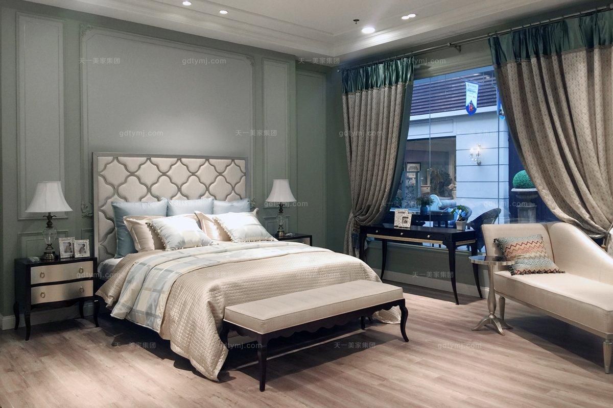 售樓部家具高端家具品牌法式咖啡色床尾凳