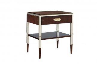 高端样板房家具样板间家具法式品牌咖啡色床头柜