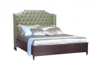五星级酒店万博手机网页品牌高端家俱法式咖啡色双人床
