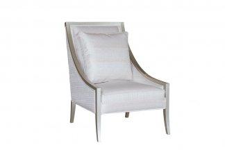 售楼部家具高端家私会所家具法式银色休闲椅